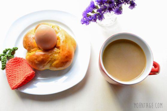 Moehrchen essbarer Eierbecher Osterbrunch
