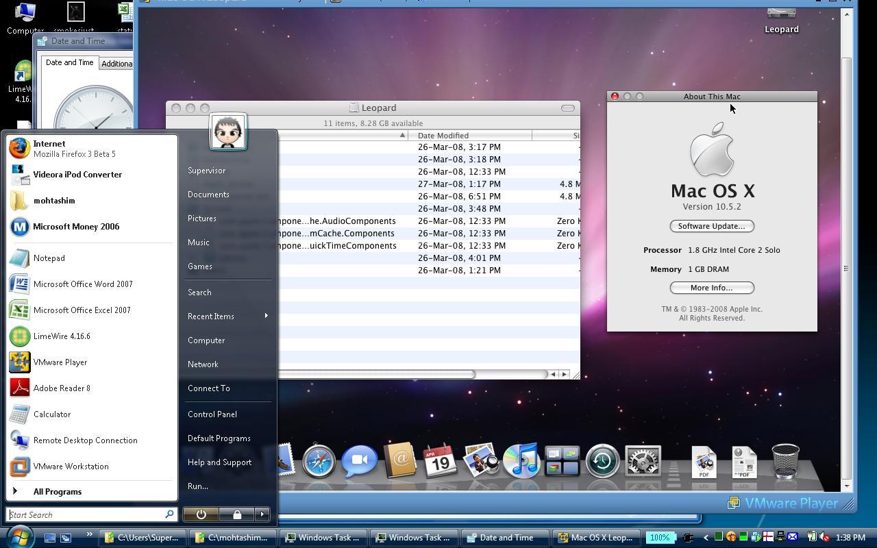 Mac OSx on Vista