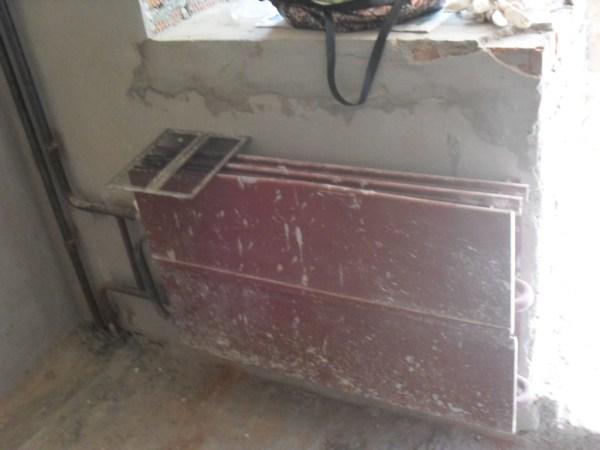 радиатор отопления в квартире с черновой отделкой