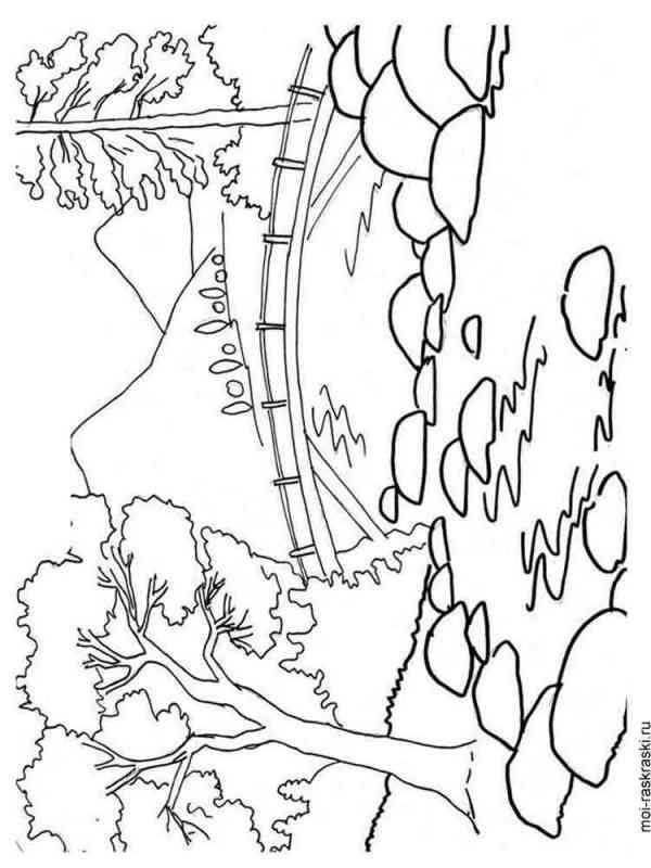 Раскраска Пейзаж - распечатать в формате А4