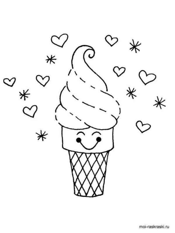 Раскраска Мороженое. Скачать и распечатать раскраски ...