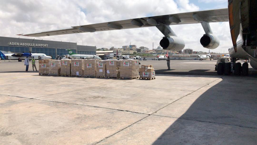 UAE and WHO send aid plane to Somalia to assist efforts to counter COVID-19