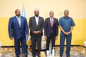 Prime Minister Kheyre meets with FMS leaders in Dhusamareb