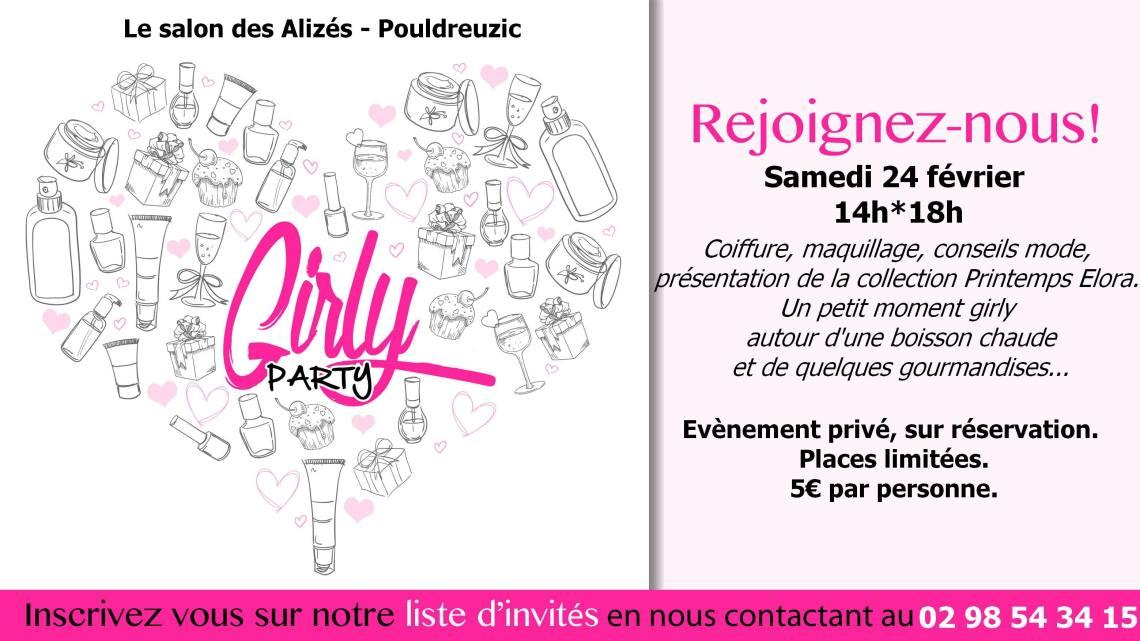 Girly Party au Salon des Alizés (29) – Evènement privé, sur réservation