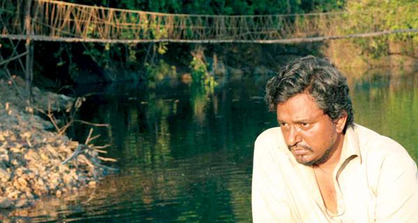 man beyond the bridge