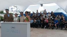 Vicky Kaushal, Shweta Tripathi, Neeraj Ghaywan, Richa Chaddha at the photocall