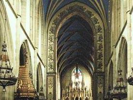 Intérieur de l'église des dominicains