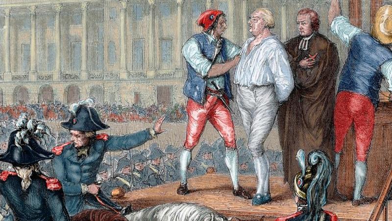 Tranh tái hiện cảnh Vua Louis XVI