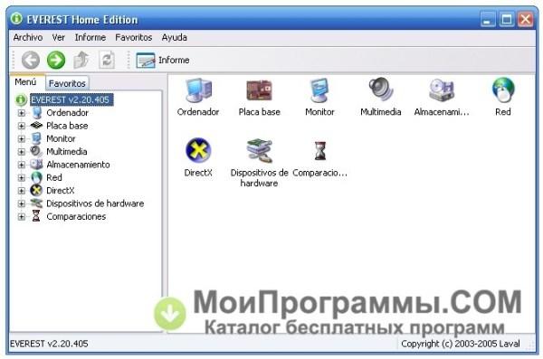 EVEREST Home Edition скачать бесплатно русская версия для ...
