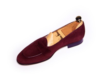 Belgian loafer burgundy, diseño propio y exclusivo