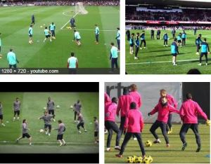RONDO FC BARCELONA  CON TRES EQUIPOS