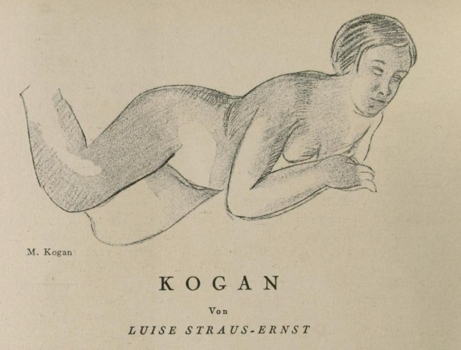 Moissey Kogan_drawing_Der Querschnitt_Dec 1928