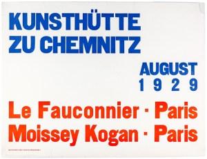 Poster-exhibition-Moissey-Kogan-Le-Fauconnier-Kunsthütte-Chemnitz-1929
