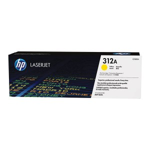 HP 312A Yellow Original LaserJet Toner Cartridge (CF382A),
