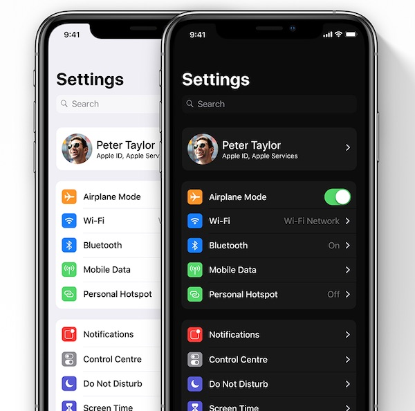 iOS 13 Dark Mode concept by Léo Vallet