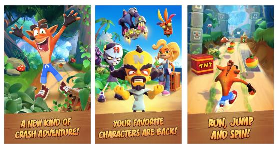 Crash Bandicoot: On the Run mobilní hra