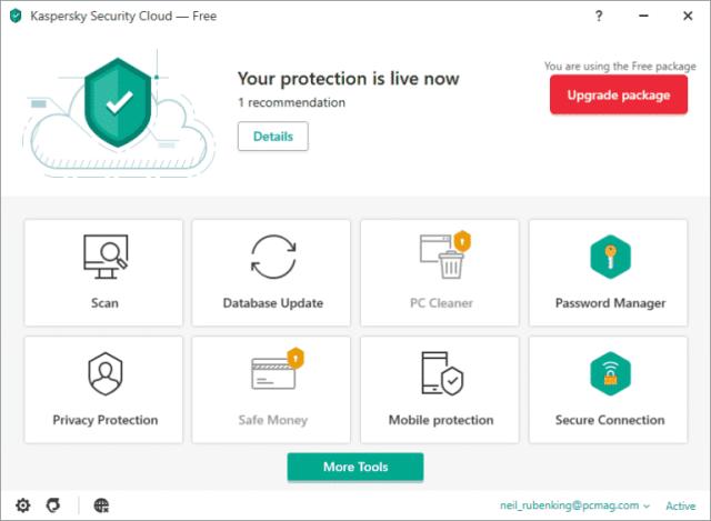 1. Nejlepší antivirus zdarma 2020: Kaspersky Security Cloud