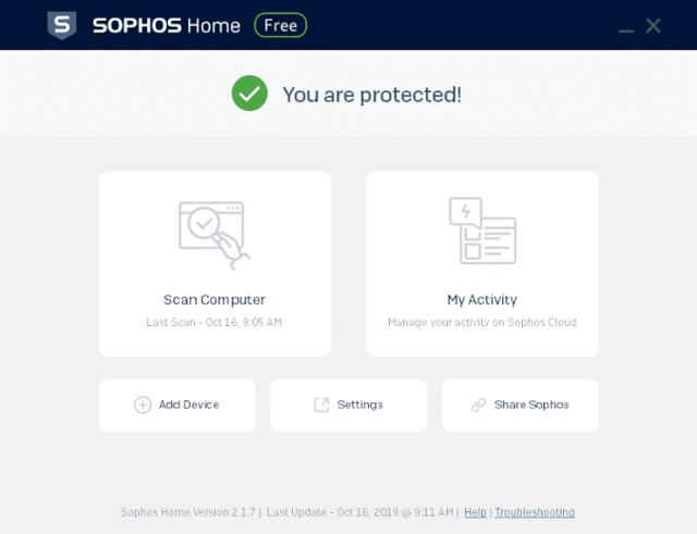 SOPHOS Home Free - antivirus zdarma
