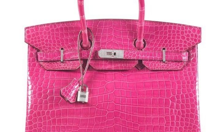 pink crocodile-skin Birkin