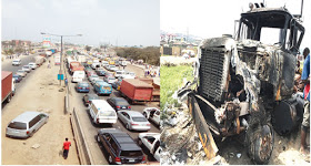 Fatal Collision On Lagos-Ibadan Expressway Causes Traffic For 15 Hours, 4 Killed In Incident