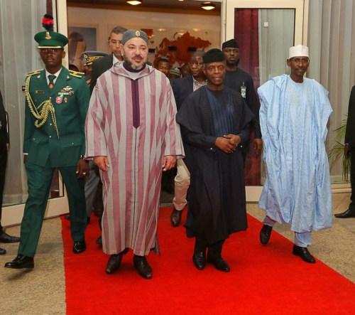 Vice President Osinbajo Receives King Mohammed VI Of Morocco