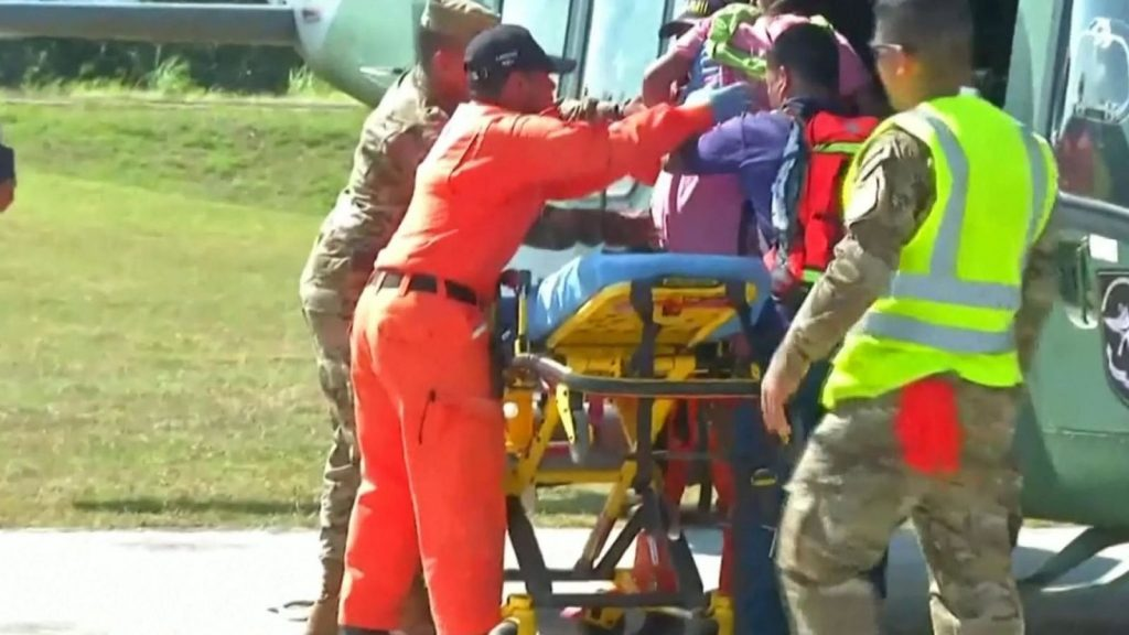 Two pregnant women were among the injured and have been airlifted to hospital