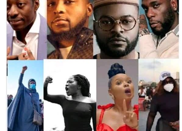 #EndSARS Protest: Court Orders Police To Probe Davido, Pastor Sam Adeyemi, Wizkid, Falz, Tiwa Savage, 49 Others