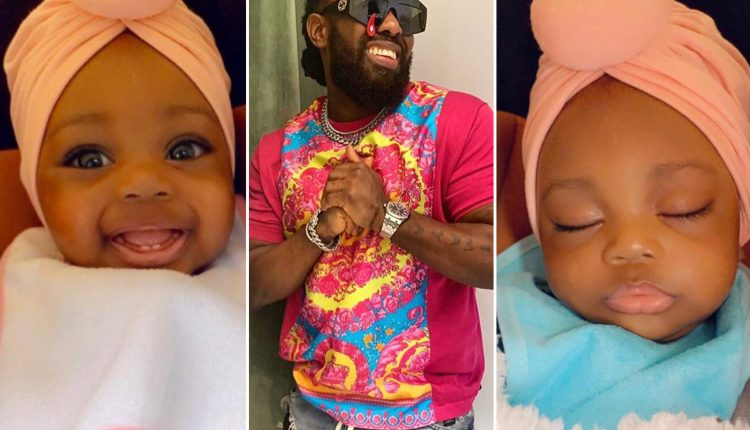 'Meet My Daughter' - Timaya Says As He Releases Beautiful Pictures Of Baby Girl