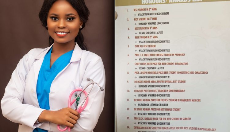 UNIZIK Medical Graduate Sweeps 12 Awards At Induction