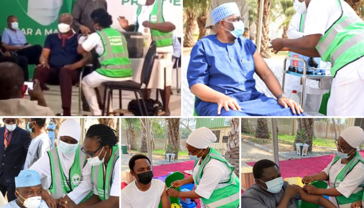 Boss Mustapha, Health Minister, Other PTF Members, Buhari's Aides Receive COVID-19 Vaccine
