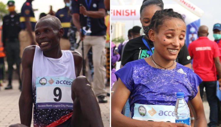 Kenya's Emmanuel Naibei Wins 2021 Lagos City Marathon, Ethiopia's Meseret Dinke Wins Female Category