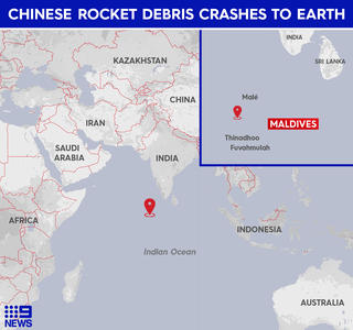 The location of the landing. Photo credit: 9News