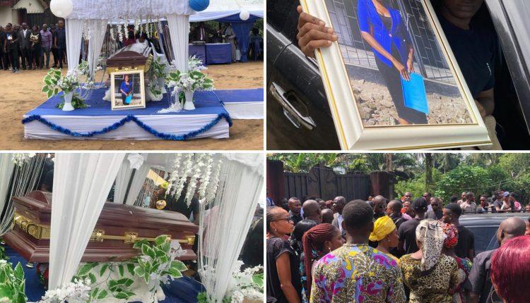 Photos, Video From Funeral Of Iniubong Umoren, Job Seeker Who Was Raped, Killed In Akwa Ibom