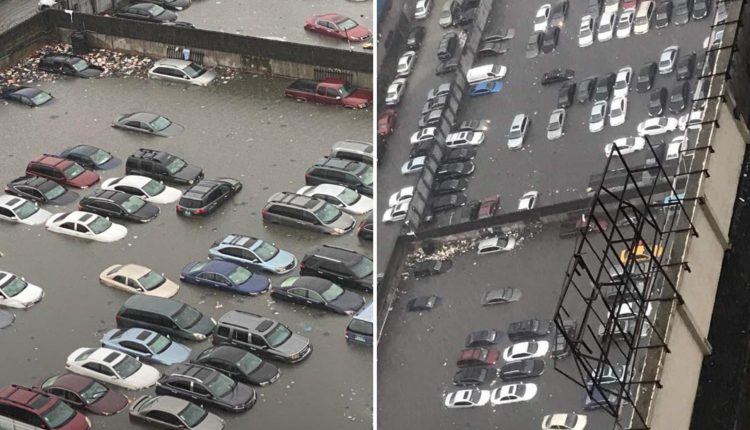 Residents Stranded, Cars Submerged As Flood Ravages Lagos