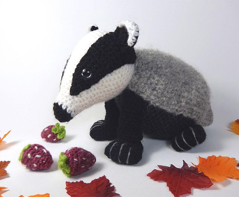 Crochet Pattern: Badger Amigurumi PDF Download | Amigurumi pattern ... | 675x820