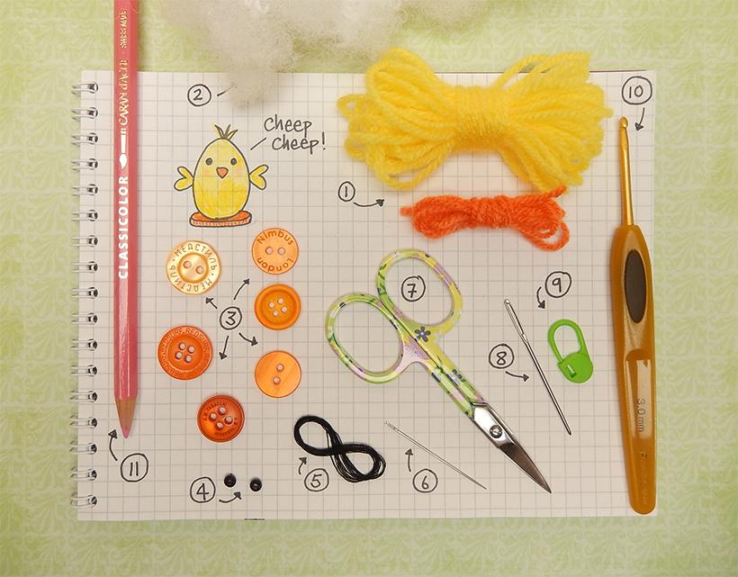 FreeTutorial -Tiny Chick by Moji-Moji Design