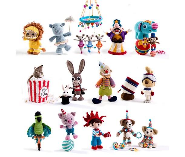 Amigurumi-circus-characters