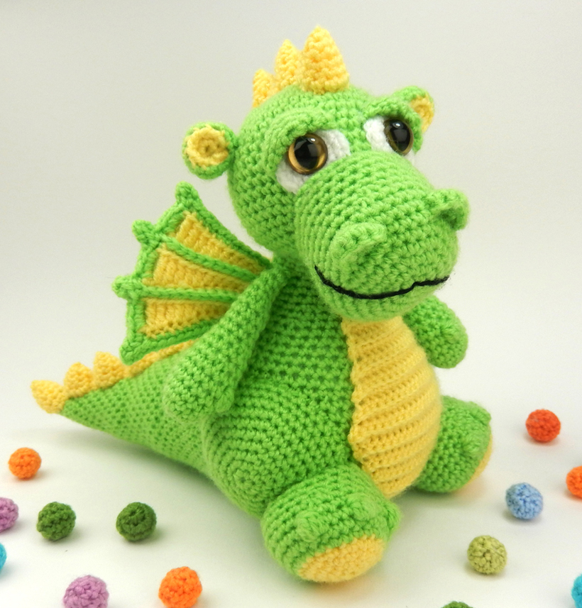 Vincent the Dragon | Free Crochet Pattern Amigurumi | Hooked by Kati | 857x820