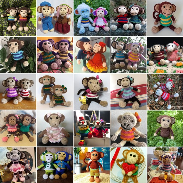 All About Ami's New Year Monkey by Amigurumi Torino (With images ... | 612x611