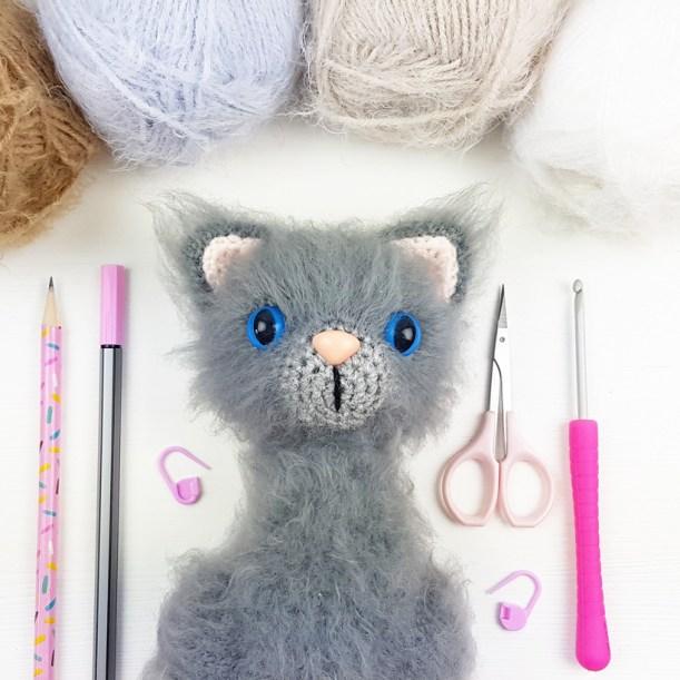 Toby the Cat amigurumi pattern - Amigurumi Today | 611x611