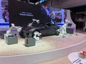 Robots and Cobots for automotive production