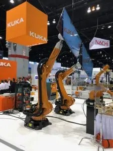 Robotics for the manufacturing of TV's