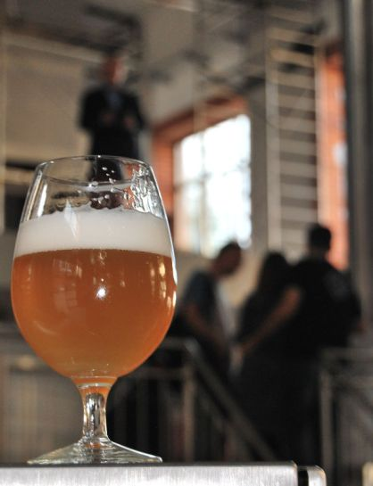 Piwo w Browarze Stu Mostów, niestety na razie przywiezione z Niemiec