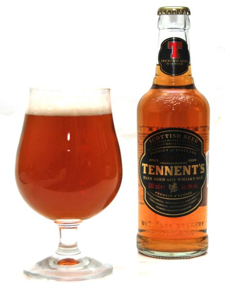 Tennent's Beer Aged with whisky oak