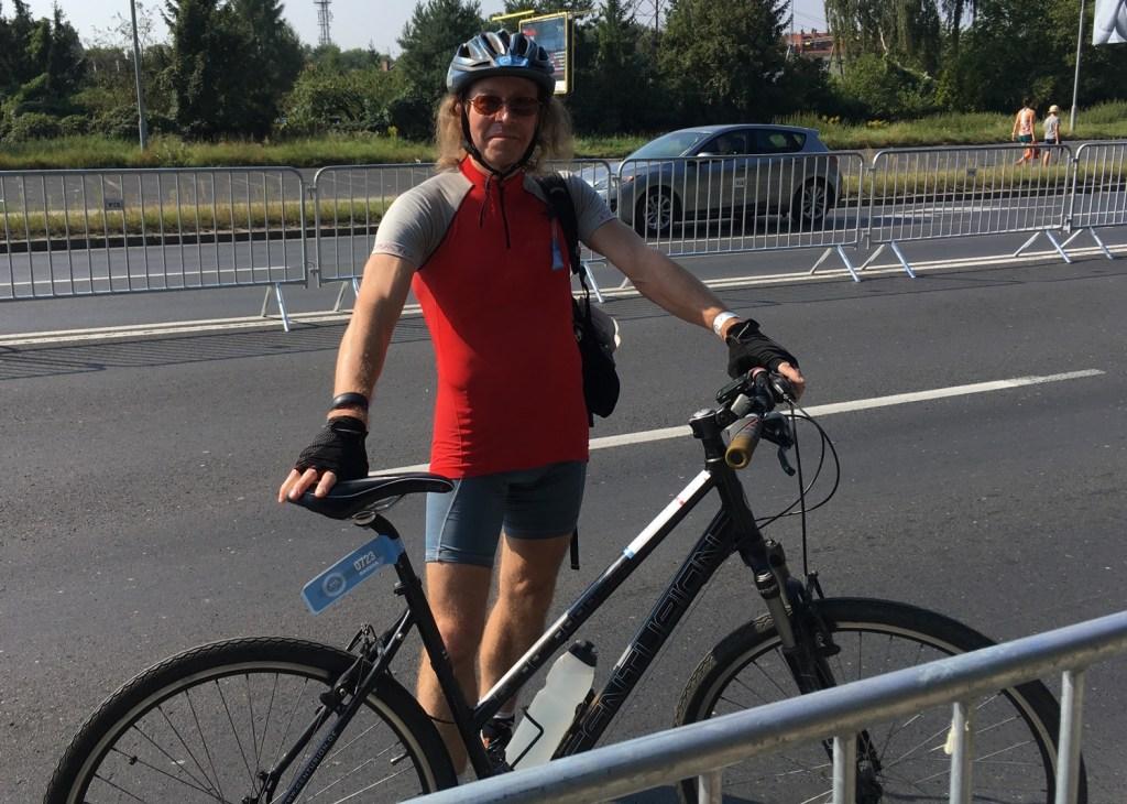 Jaromir i jego Damka na starcie Bike Challenge