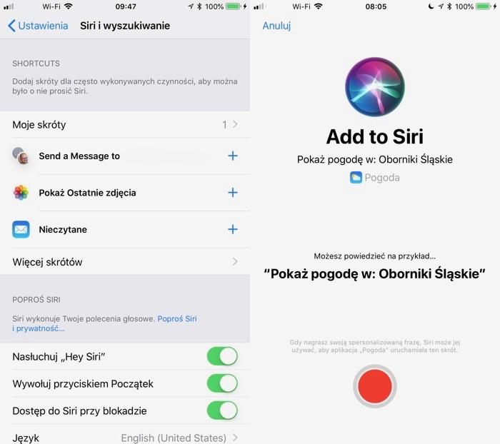Skróty w iOS12