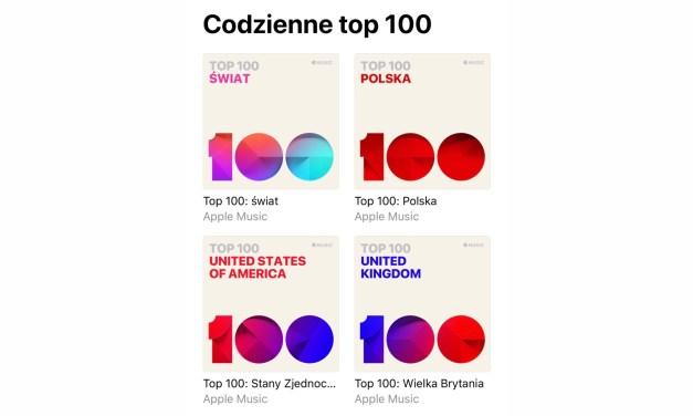 Top 100 Apple Music! Codzienny ranking popularności utworów