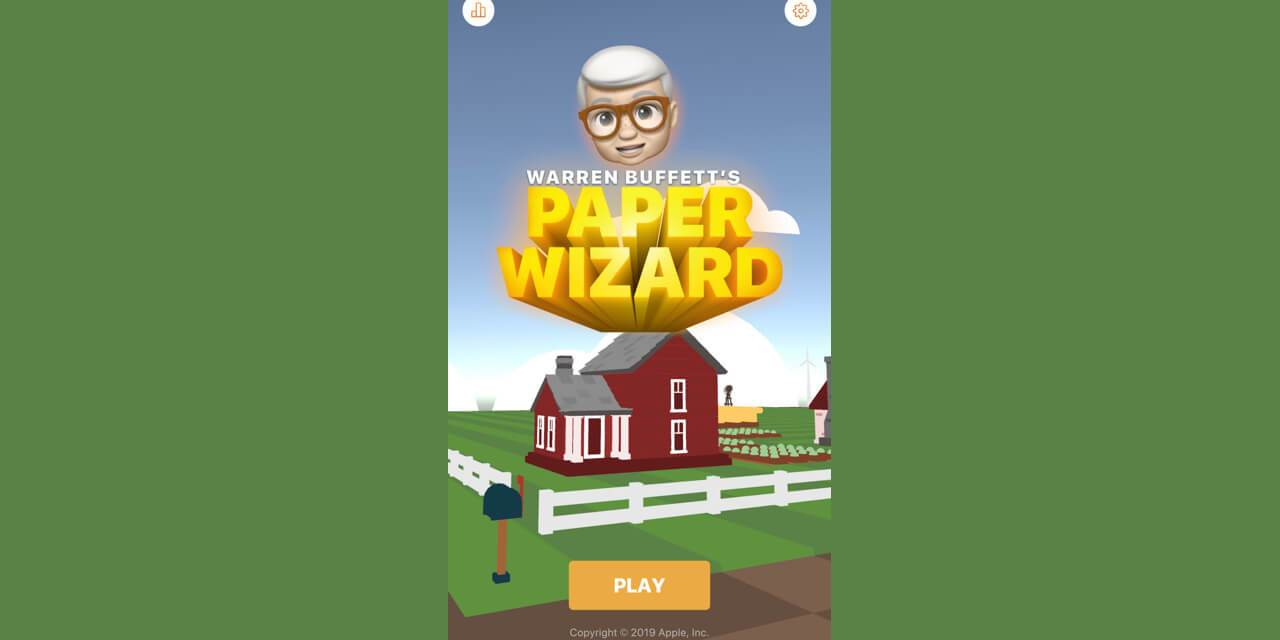 Apple wydał grę… Warren Buffet's Paper Wizard