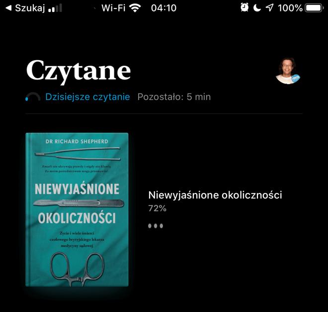 Dzisiejsze czytanie iOS 13