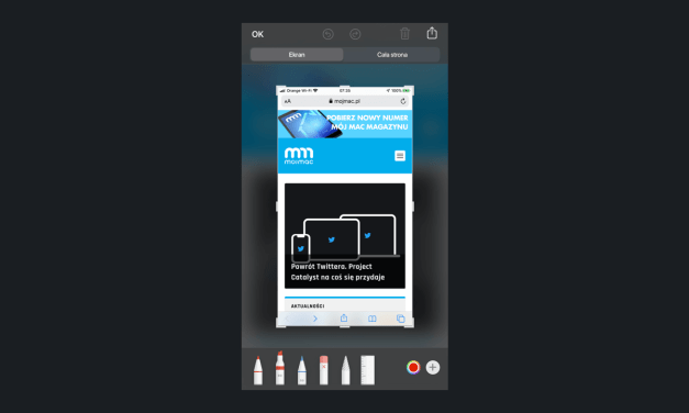 iOS 13 zrzuty ekranowe całych stron
